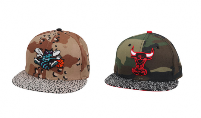 new era Camo Hook D Chicago Bulls charlotte hornets