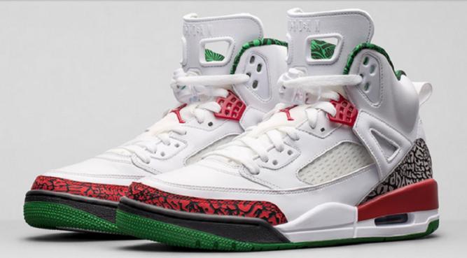 The Jordan Spizike-White-Green-Varsity Red 01