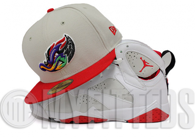 akron-rubber-ducks-sand-stone-scarlet-emerald-black-air-jordan-vii-hare-matching-new-era-fitted-cap-62