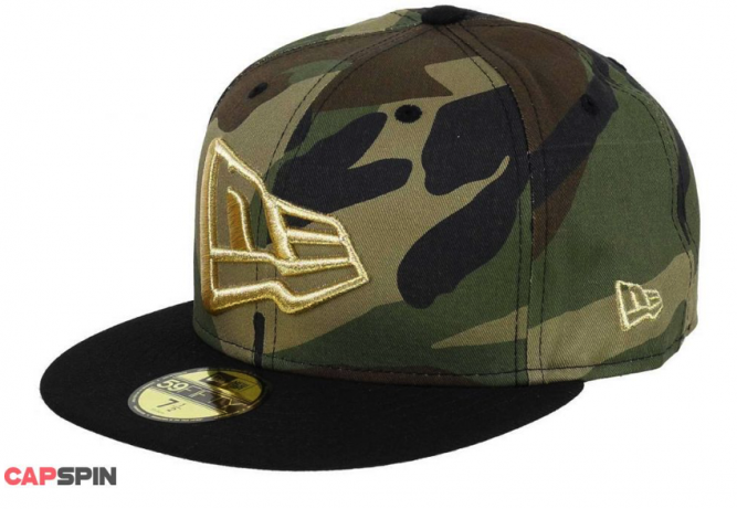 :NEW-ERA-59FIFTY-BASECAP---GOLD-FLAG---CAMOFLAGE---BLACK.