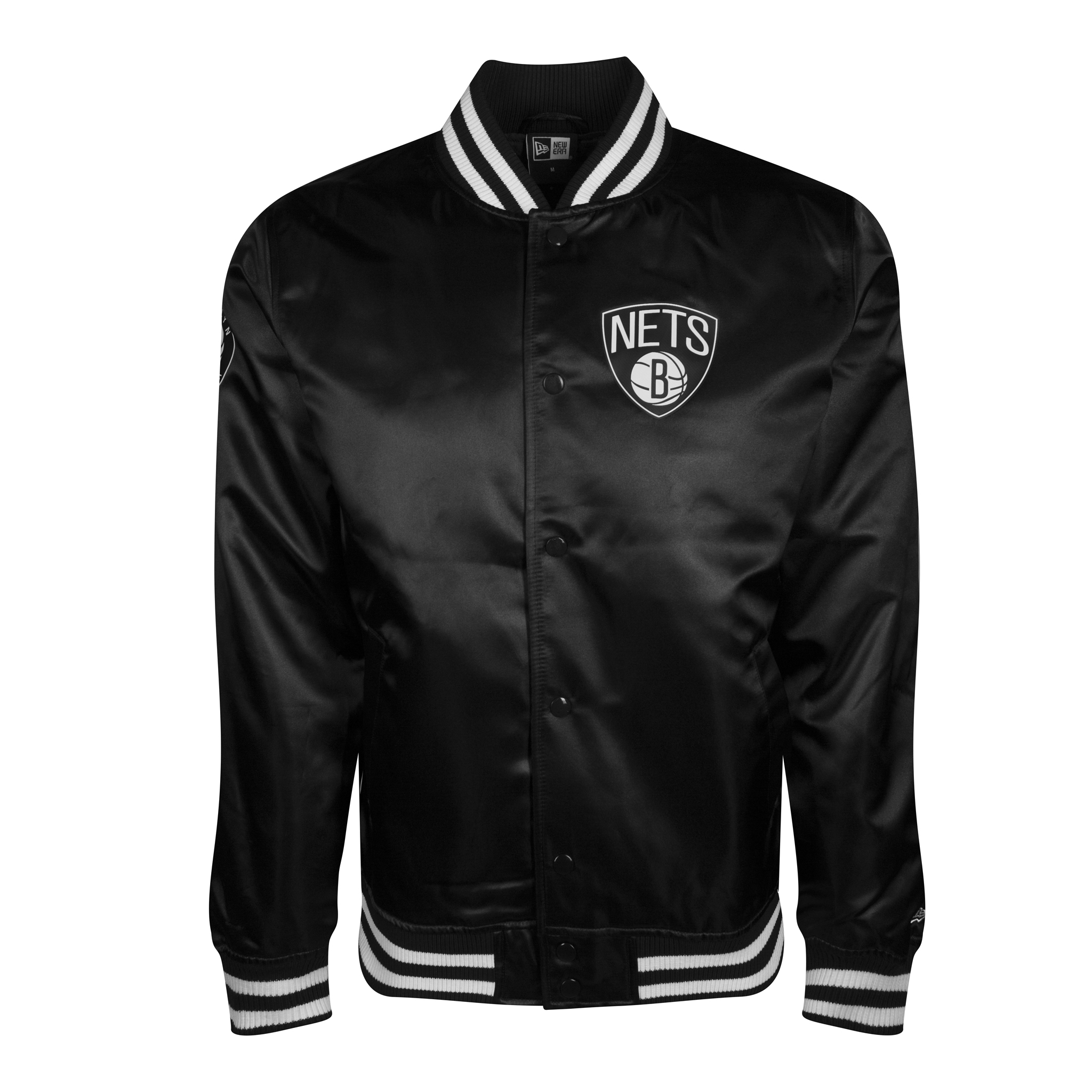 BROOKLYN NETS SATEEN VARSITY JACKET
