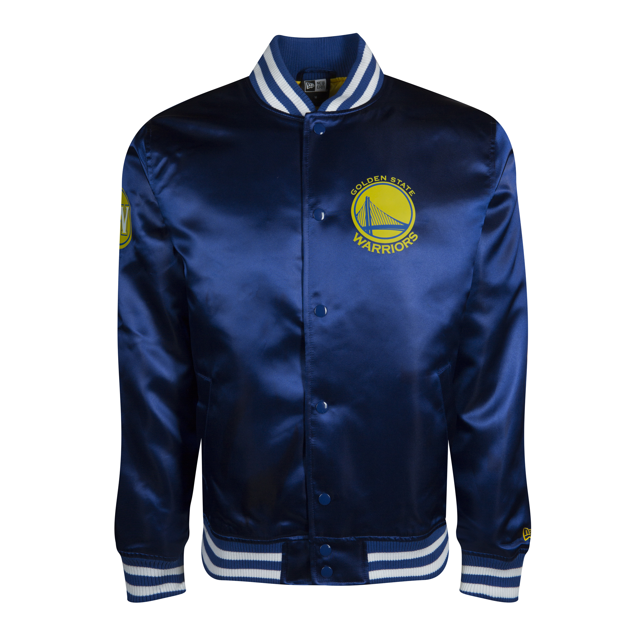 GOLDEN STATE WARRIORS SATEEN VARSITY JACKET